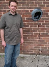 The self assembling hatstand and its creator: (The stand is the one on the right)