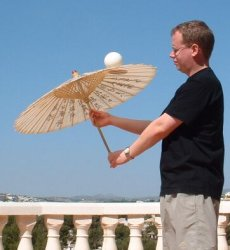 Ball on Parasol